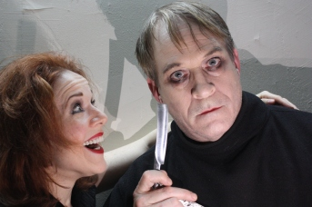 From left, Lorinne Lampert and David Fuller in Theater 2020's SWEENEY TODD. Photo by Judith Jarosz