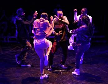 Syncing Ink Flea Theater By NSANGOU NJIKAM Directed by Niegel Smith Cast: McKenzie Frye, Nuri Hazzard, Elisha Lawson, NSangou Njikam, Adesola Osakalumi, DJ Reborn and Kara Young